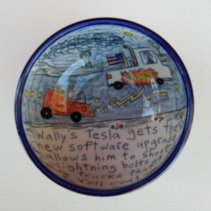 Wally's Tesla gets weaponized to fight the coal rollers - bowl