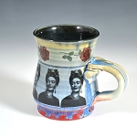 Frida Kahlo tribute mug #1 - Mug - ONE OF A KIND - 10 ounces