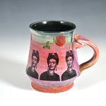 Frida Kahlo tribute mug #2 - Mug - ONE OF A KIND - 10 ounces