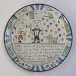 13 inch Wally platter - PLEASE SPECIFY THE DESIGN YOU WANT