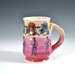 Escape! with Houdini, Maria and flowers - beer stein - 16 ounces