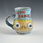 ZOOM BOMB! Nude woman juggling cats - 12 ounce mug