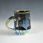 RBG tribute mug #5 - 10 ounce mug with gold luster - 10 ounce mug - ONE (1) LEFT IN STOCK NOW.