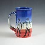 BBQ, Beer, Freedom, Fishnets & High Heels beer stein - 14 ounces