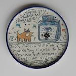 Jerry Garcia wills Wally the marketing rights to his exercise video - plate  - OUT OF STOCK. SHIPS ON 9/14/20