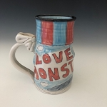 LOVE MONSTER - big mug - 12 oz.