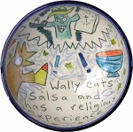 Wally eats salsa and has a religious experience - bowl - IN STOCK
