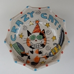 Crazy Cat - bowl - OUT OF STOCK. SHIPS ON MAY 3, 2021