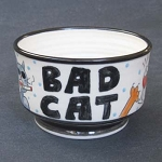 Bad Cat - bowl - OUT OF STOCK. SHIPS ON MAY 3, 2021