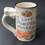 I love monster movies! - mug - OUT OF STOCK. SHIPS ON MAY 3, 2021