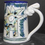Wally wanders into Jackson Pollock's studio - mug - ONE (1) IN STOCK.