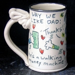 Why we like Dad - mug - OUT OF STOCK. SHIPS IN FEBRUARY 2021.