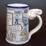 Wally joins The Tea Party to avoid getting eaten by space aliens - mug - OUT OF STOCK. SHIPS ON MARCH 22, 2021