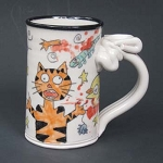 My cat is a psycho killer! - mug - ONE (1) IN STOCK.