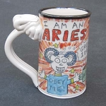 Aries mug - OUT OF STOCK. SEE MESSAGE AT THE TOP OF THIS PAGE FOR NEXT AVAILABLE SHIP DATE.