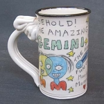 Gemini mug - OUT OF STOCK. SEE MESSAGE AT THE TOP OF THIS PAGE FOR NEXT AVAILABLE SHIP DATE.