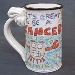 Cancer mug - OUT OF STOCK. SEE MESSAGE AT THE TOP OF THIS PAGE FOR NEXT AVAILABLE SHIP DATE.