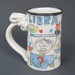 Libra mug - OUT OF STOCK. SEE MESSAGE AT THE TOP OF THIS PAGE FOR NEXT AVAILABLE SHIP DATE.