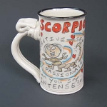 Scorpio mug - OUT OF STOCK. SEE MESSAGE AT THE TOP OF THIS PAGE FOR NEXT AVAILABLE SHIP DATE.