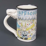 Capricorn mug - OUT OF STOCK. SEE MESSAGE AT THE TOP OF THIS PAGE FOR NEXT AVAILABLE SHIP DATE.