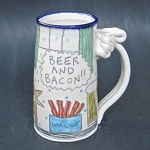 Wally discovers the true meaning of life - 12 ounce beer mug - THREE (3) IN STOCK.