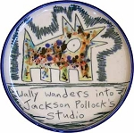 Wally wanders into Jackson Pollock's studio - salad plate