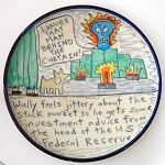 Wally feels jittery about the stock market - salad plate - OUT OF STOCK. SHIPS ON MAY 3, 2021