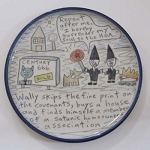 Wally joins a satanic homeowners' association - salad plate