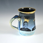 RBG tribute mug #5 - 10 ounce mug with gold luster - pre-order for shipment in mid-November