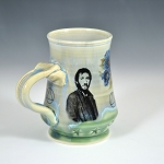 Pete Townshend with blue flowers - ONE OF A KIND - 10 ounce mug