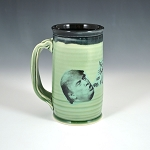 Barfin' and Poopin' on Trump beer stein - green - ONE OF A KIND!